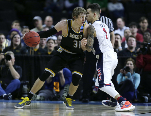Wichita State guard Ron Baker (31) in the second half during the first round of the NCAA college men's basketball tournament in Providence, R.I., Thursday, March 17, 2016. Wichita State defeated A ...