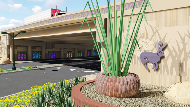 The new high-occupancy-vehicle-only exit of Interstate 15 will be called the Neon Gateway and will be located between Alta Drive and Sahara Avenue. (Courtesy of Nevada Department of Transportation)