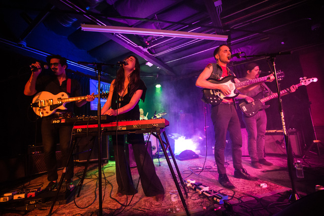 Babes perform at the Bunkhouse Saloon during the first night of the Neon Reverb music festival in downtown in Las Vegas on Thursday, March 10, 2016. The festival runs through Sunday, with dozens o ...