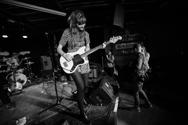 Katy Goodman of La Sera performs at the Bunkhouse Saloon during the first night of the Neon Reverb music festival in downtown in Las Vegas on Thursday, March 10, 2016. The festival runs through Su ...