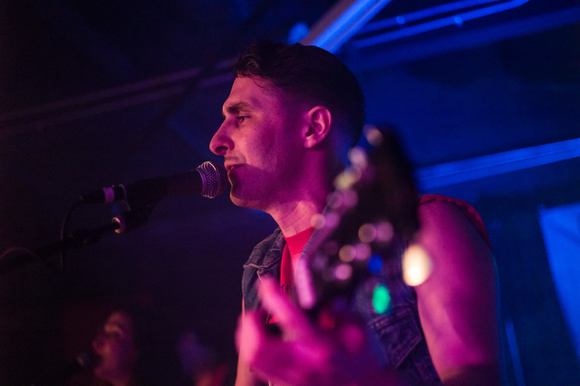 Aaron Leigh of Babes performs at the Bunkhouse Saloon during the first night of the Neon Reverb music festival in downtown in Las Vegas on Thursday, March 10, 2016. The festival runs through Sunda ...