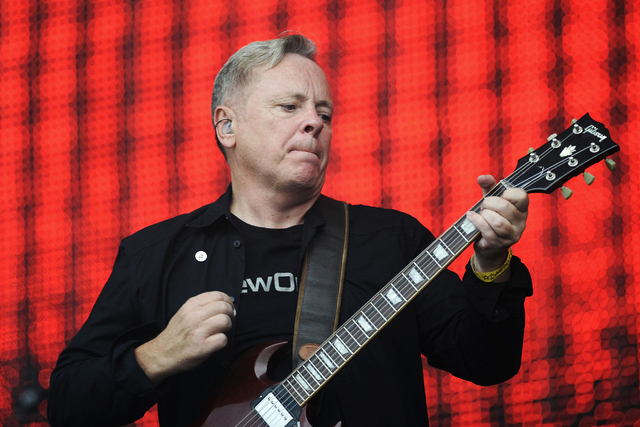 Bernard Sumner of British band New Order performs on stage as part of celebrations before the London 2012 Olympic Games closing ceremony at Hyde Park, London, August 12 , 2012.    REUTERS/Ki Price ...