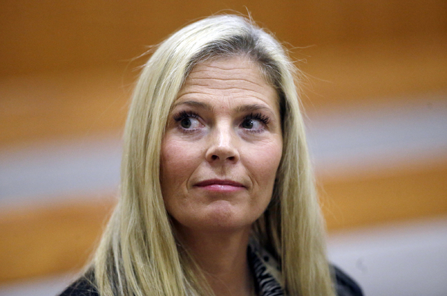 In this Feb.16, 2016 file photo, Olympic gold-medal skier Picabo Street looks on in the court, in Park City, Utah. Utah prosecutors said this week that domestic violence charges against Street sho ...