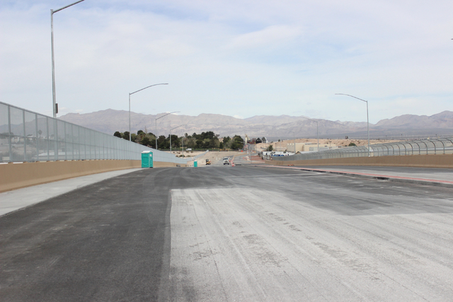 An unfinished section of North 5th street near Carey avenue in North Las Vegas is seen on Mar. 7, 2016. The city hopes to extend the corridor to run through part of the land currently housing a pi ...