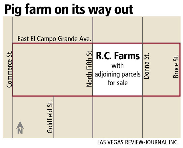 North Las Vegas pig farm to sell land move out of the valley