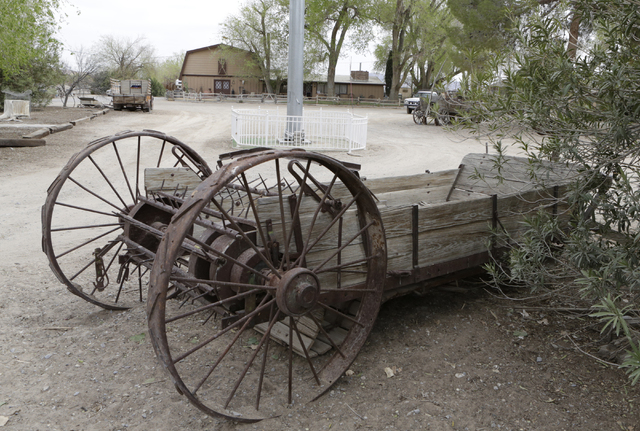 An antique farm equipment is seen at R.C. Farms on 555 E El Campo Grand Ave., Monday, March 7, 2016, in North Las Vegas. (Bizuayehu Tesfaye/Las Vegas Review-Journal Follow @bizutesfaye