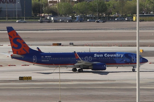 The charter plane, Sun Country Airlines Flight 8606, carrying Cal State Bakersfield's basketball team, made an emergency stop for a medical issue at McCarran International Airport on Wednesday, Ma ...