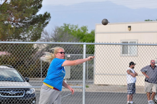 Horace Langford Jr / Pahrump Valley Times - PVHS Track, Shot Put