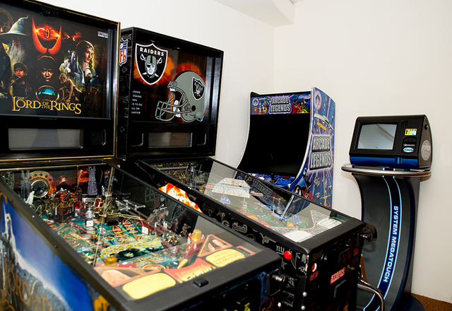 Mickey Gonzalez has a room just for pinball machines. (TONYA HARVEY/REAL ESTATE MILLIONS)
