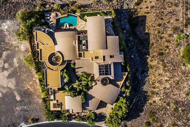 An aerial view of the home. (COURTESY OF Shapiro & Sher Group)