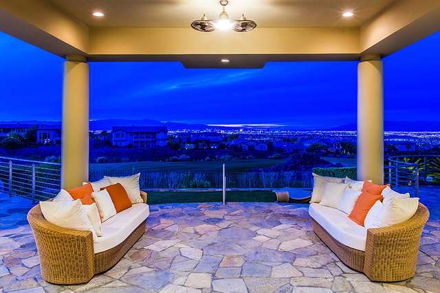 The patio has views of the Las Vegas Strip. (COURTESY OF Shapiro & Sher Group)