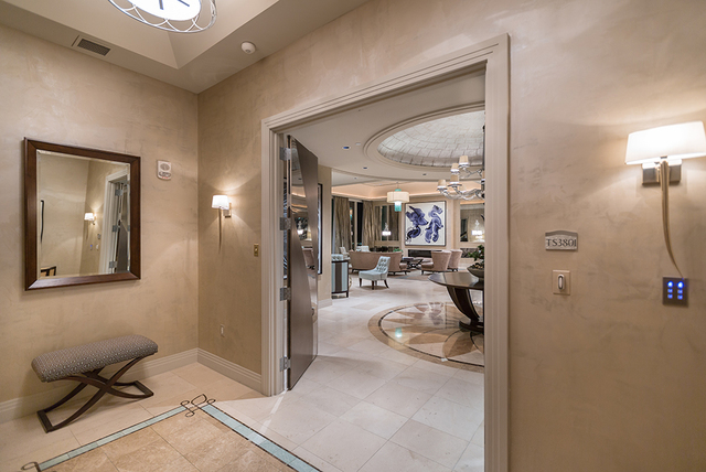 The elevator leads up to the penthouse, which takes up the entire 38th floor of the newest Turnberry Place building.  (COURTESY SHAPIRO & SHER GROUP)
