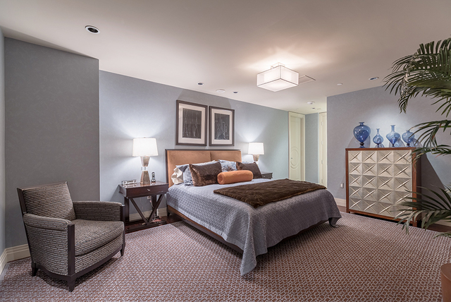 One of the bedroom suites. (COURTESY SHAPIRO & SHER GROUP)