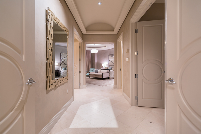 The hallway to the master suite. (COURTESY SHAPIRO & SHER GROUP)