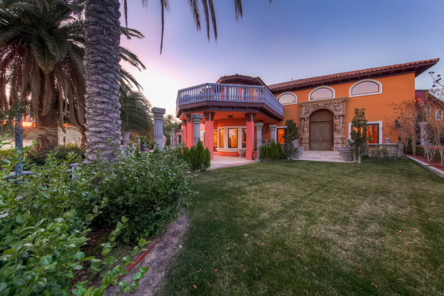 COURTESY  The mansion sits on a nearly 1.2-acre lot in Summerlin's prestigious neighborhood, Tournament Hills.