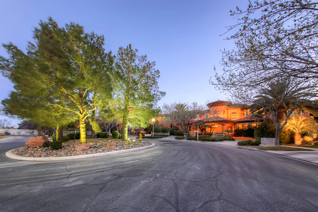 "COURTESY  ""It's in a private, gated community on a cul-de-sac so there's not a lot of drive-through traffic,"" said Las Vegas luxury Realtor Tom Love, who has the listing."