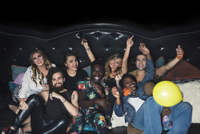 """From left, Sabrina, Chris, Kailah, Dean, Jenna, CeeJai and Dione star in """"Real World: Go Big or Go Home."""" (Courtesy MTV)"""