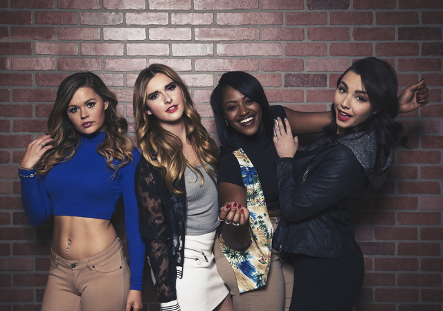 """Jenna, Sabrina, CeeJai and Kailah from the made-in-Vegas """"Real World: Go Big or Go Home."""" (Courtesy MTV)"""