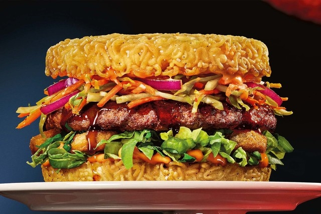 Red Ramen burger (Courtesy/Red Robin Gourmet Burgers Inc.)