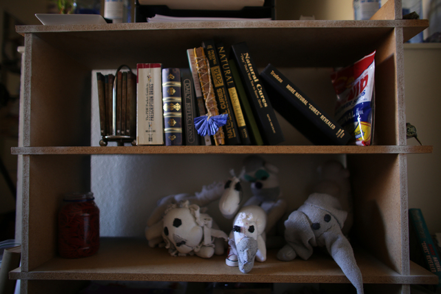 The sock dolls Lateefa made while in prison at her home on Wednesday, March 9, 2016. Rachel Aston/las Vegas Review-Journal Follow @rookie__Rae
