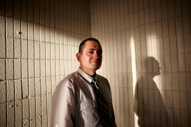 Freddy Duarte poses for a portrait at the building for the Hope For Prisoners office in Las Vegas Thursday, March 10, 2016. Rachel Aston/Las Vegas Review-Journal Follow @rookie__rae