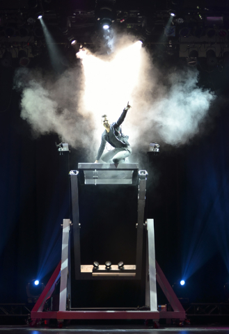 """Jan Rouven performs during """"Illusions"""" at the Tropicana hotel-casino at 3801 Las Vegas Blvd. S. in Las Vegas on Wednesday, March 11, 2015. (Bill Hughes/Las Vegas Review-Journal)"""
