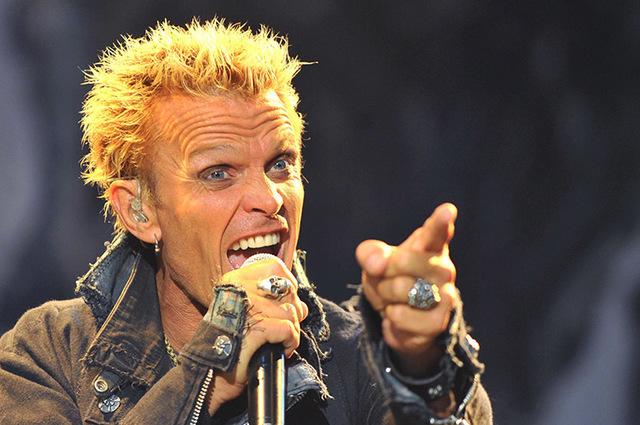 British rock musician Billy Idol performs at the annual 18th VOLT Festival in Sopron, 129 miles west of Budapest, July 1, 2010. (Nepszabadsag/Bernadett Szabo/Reuters)