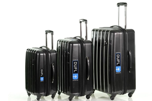 """With DUFL, users sign up, pack their welcome suitcase with as many items as they need -- the average is about 50 -- then with each trip they """"pack"""" what they want by choosing bel ..."""
