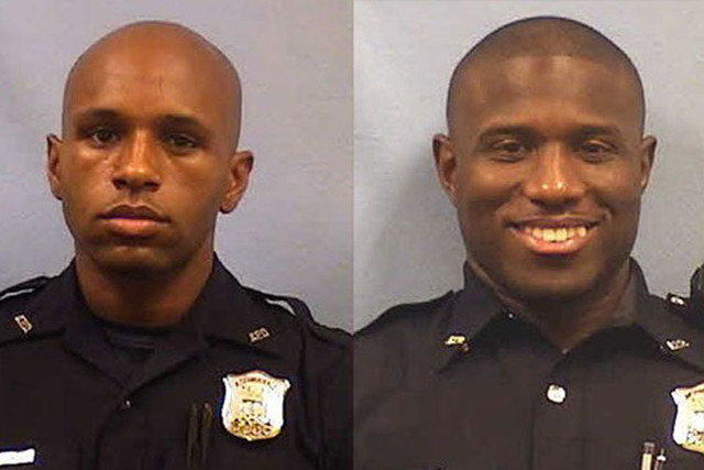 An officer with the Atlanta Police Department has been placed on administrative leave and another has resigned following a fight at a restaurant over which officer would be faster in a foot race.  ...