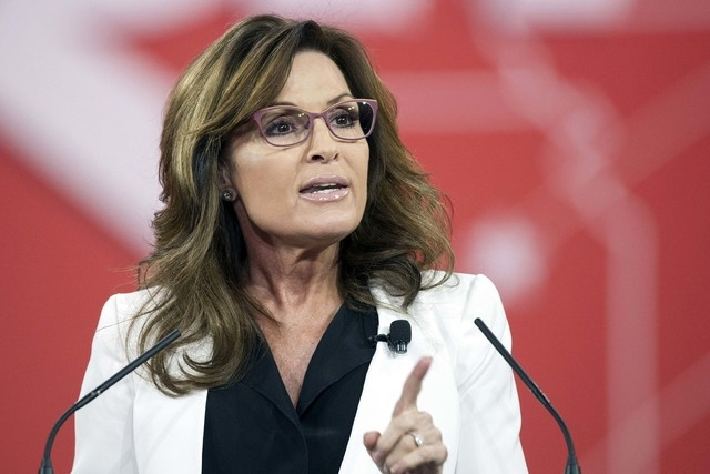 Former Alaska Gov. Sarah Palin speaks during the Conservative Political Action Conference in National Harbor, Maryland, Feb. 26, 2015. Palin has signed a deal to make a pilot for a reality courtro ...