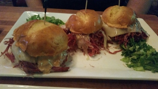 Corned beef sliders are shown at Sean Patrick's, 3290 W. Ann Road. Lisa Valentine/View