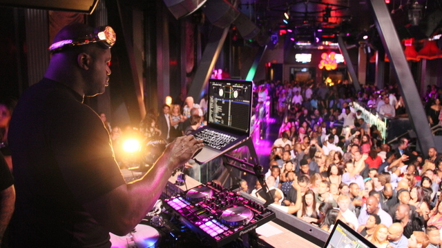 Shaq, a DJ, performs at the Chateau Nightclub at the Paris Hotel and Casino. (Courtesy/Chateau Nightclub)