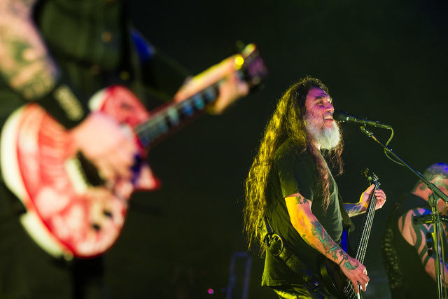Tom Araya of Slayer performs at The Joint at the Hard Rock Hotel in Las Vegas on Saturday, March 26, 2016. Chase Stevens/Las Vegas Review-Journal Follow @csstevensphoto