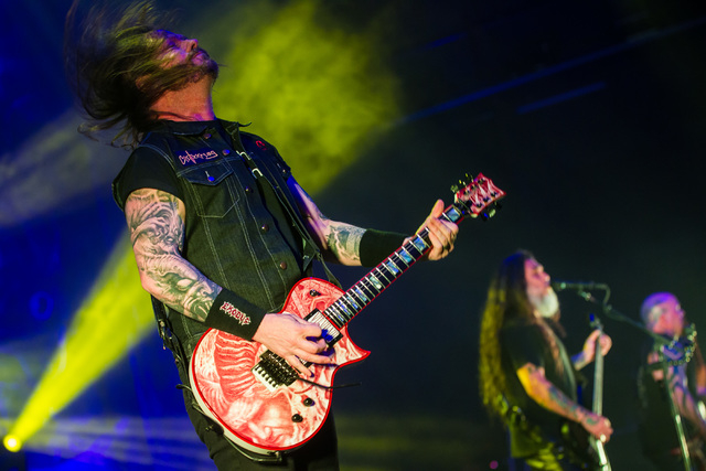 Gary Holt of Slayer performs at The Joint at the Hard Rock Hotel in Las Vegas on Saturday, March 26, 2016. Chase Stevens/Las Vegas Review-Journal Follow @csstevensphoto