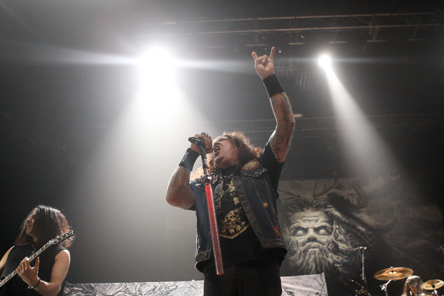 Chuck Billy of Testament performs at The Joint at the Hard Rock Hotel in Las Vegas on Saturday, March 26, 2016. Chase Stevens/Las Vegas Review-Journal Follow @csstevensphoto