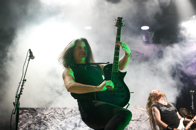 Alex Skolnick of Testament performs at The Joint at the Hard Rock Hotel in Las Vegas on Saturday, March 26, 2016. Chase Stevens/Las Vegas Review-Journal Follow @csstevensphoto