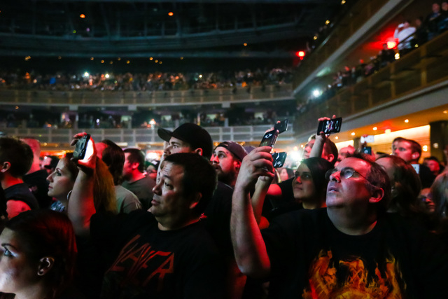 Fans wait for Slayer to take the stage at The Joint at the Hard Rock Hotel in Las Vegas on Saturday, March 26, 2016. Chase Stevens/Las Vegas Review-Journal Follow @csstevensphoto