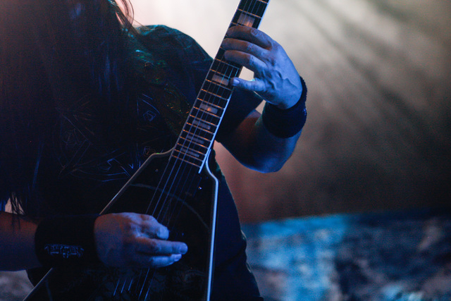 Eric Peterson of Testament performs at The Joint at the Hard Rock Hotel in Las Vegas on Saturday, March 26, 2016. Chase Stevens/Las Vegas Review-Journal Follow @csstevensphoto