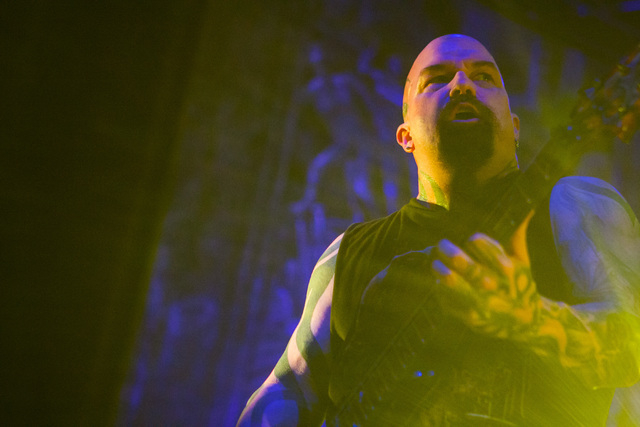 Kerry King of Slayer performs at The Joint at the Hard Rock Hotel in Las Vegas on Saturday, March 26, 2016. Chase Stevens/Las Vegas Review-Journal Follow @csstevensphoto