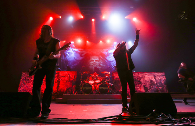 Testament performs at The Joint at the Hard Rock Hotel in Las Vegas on Saturday, March 26, 2016. Chase Stevens/Las Vegas Review-Journal Follow @csstevensphoto