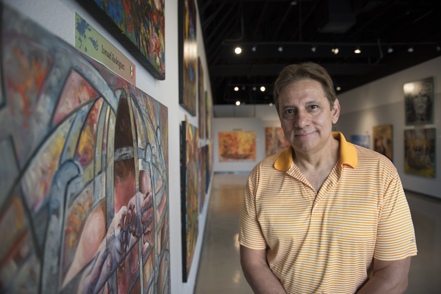 Ernesto Chavez, owner of Galleria de Chavez, poses in his gallery at 7885 W. Sahara Ave., Suites 107 and 108, March 14. Jason Ogulnik/View
