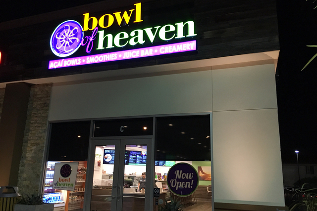 The exterior of Bowl of Heaven is seen at 3400 S. Hualapai Way. Sandy Lopez/View