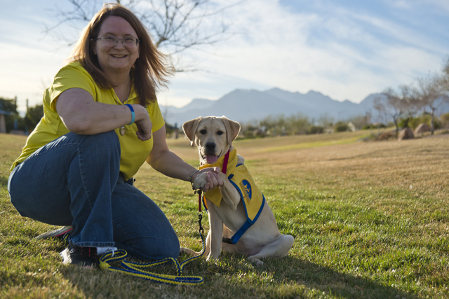 Cindy Thompson and Tulip pose for a photograph at the Kellogg-Zaher Sports Complex March 1. Daniel Clark/View