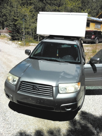 In its prime, John's 2006 Subaru Forester also managed to haul a large refrigerator of to the dump in between trips around Nevada.