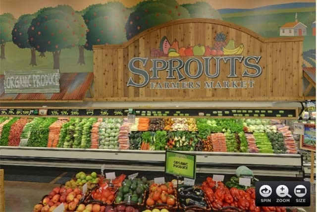 A screen picture taken from a virtual tour available on the sprouts.com website shows the market's interior. (COURTESY, sprouts.com)