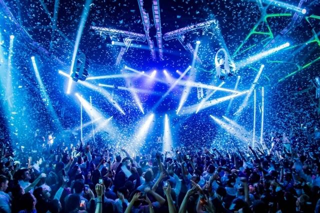 Steve Aoki performs at Hakkasan nightclub in the MGM. (Courtesy Hakkasan)