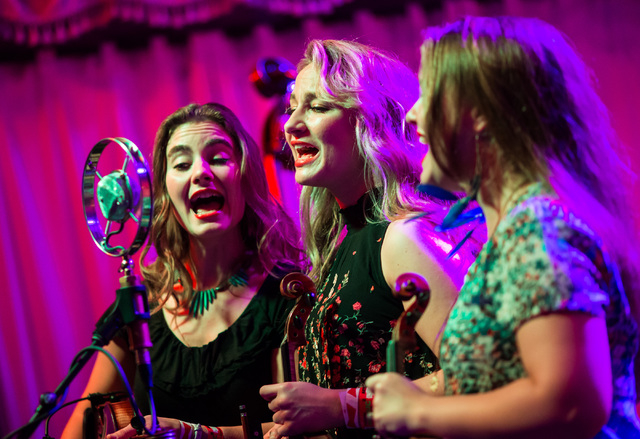 The Quebe Sisters perform during the second day of the SXSW music festival in downtown Austin, Texas on Wednesday, March 16, 2016. Chase Stevens/Las Vegas Review-Journal Follow @csstevensphoto