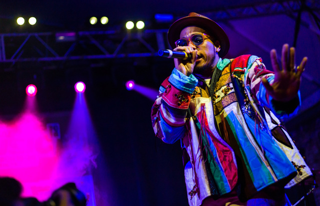 Anderson .Paak performs during the NPR showcase at Stubb's on the second day of the SXSW music festival in downtown Austin, Texas on Wednesday, March 16, 2016. Chase Stevens/Las Vegas Review-Journ ...