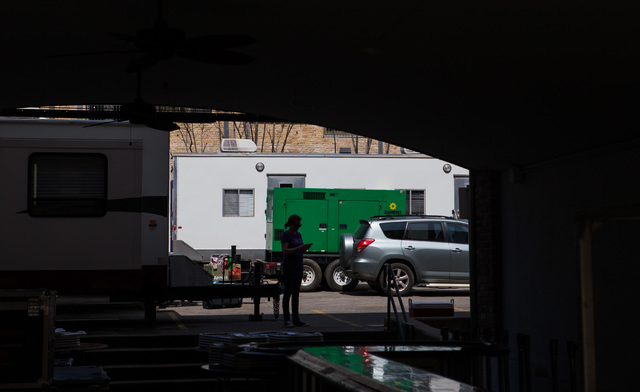 A woman is silhouetted among trailers during the second day of the SXSW music festival in downtown Austin, Texas on Wednesday, March 16, 2016. Chase Stevens/Las Vegas Review-Journal Follow @csstev ...