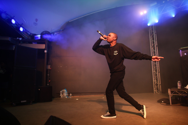 Vince Staples performs during the NPR showcase at Stubb's on the second day of the SXSW music festival in downtown Austin, Texas on Wednesday, March 16, 2016. Chase Stevens/Las Vegas Review-Journa ...